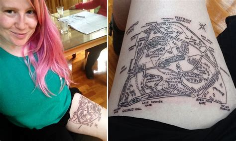 sydney tattoo expo promo code australian woman loves richmond park so much she got a map