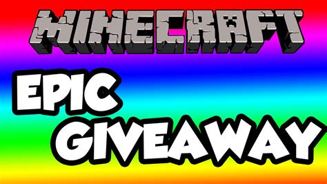 Minecraft Giveaway - epic minecraft giveaway youtube
