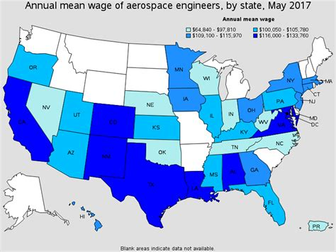 best state for jobs aerospace engineers