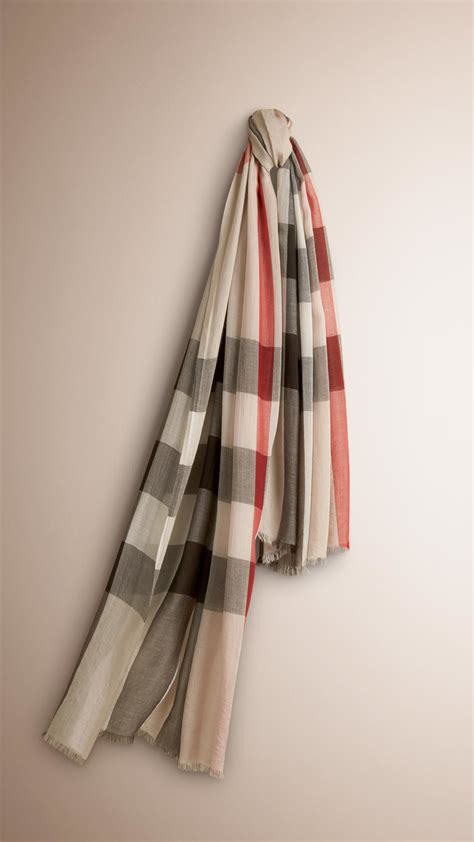 burberry check modal and silk scarf in