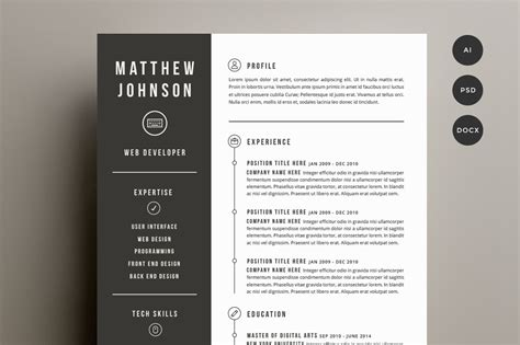30 Sexy Resume Templates Guaranteed To Get You Hired Inspirationfeed Resume Design Templates