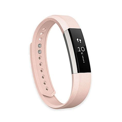 fitbit bed bath beyond fitbit 174 alta leather accessory band in pink bed bath beyond