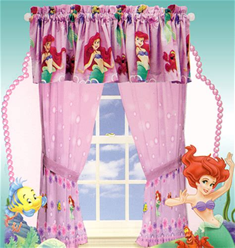 little mermaid drapes little mermaid curtains set ariel girls window drapes