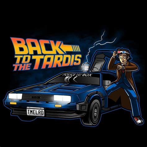 tardis vs delorean back to the tardis t shirt
