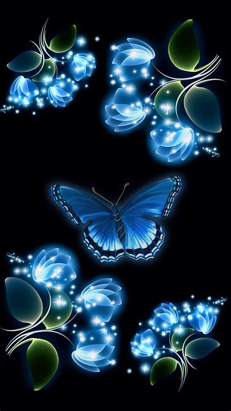 Soft 3d Sculpture Flower Black For Iphone 5 5s T0310 blue butterfly iphone wallpaper background iphone wallpaper backgrounds iphone
