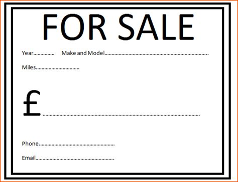 car for sale template 7 car for sale template bookletemplate org
