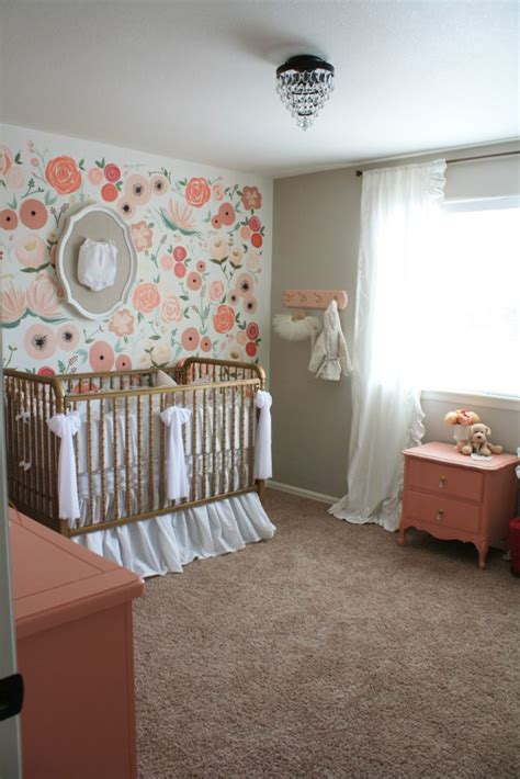 Floral Wall Mural hand painted floral wall mural nursery project nursery