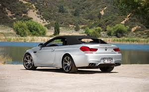 2013 bmw m6 convertible rear three quarters top up photo 4