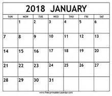 Calendar 2018 January Nz January 2018 Calendar Template Free Printable Calendar