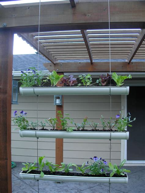 How To Make Vertical Garden How To Make Hanging Gutter Vertical Garden How To