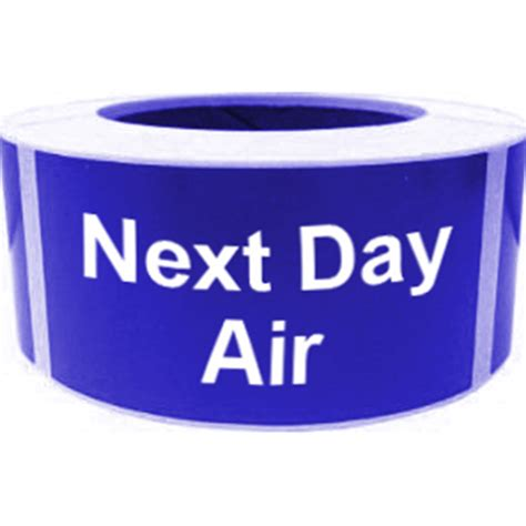 opentip next day air shipping labels 500pcs per roll 2 quot x 4 quot blue
