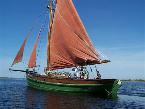 skiff vessel loch fyne skiff type fishing wooden sailing vessel for sale