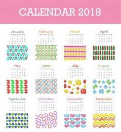 Calendario 2018 Psd Calend 225 2018 Diferentes Formas Baixar Vetores Gr 225 Tis