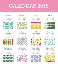 Calendario 2018 Baixar Calend 225 2018 Diferentes Formas Baixar Vetores Gr 225 Tis