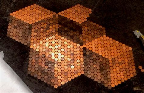 Penny Tile Floors   Using Copper Coins as Mosaic Tiles