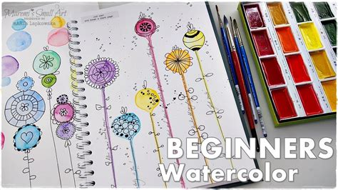 watercolor tutorial for beginners youtube easy watercolor flowers tutorial for beginners 3 maremi