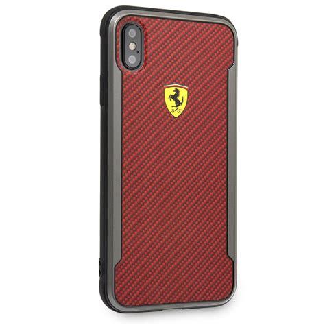 slim fit carbon fiber hard case red iphone xr