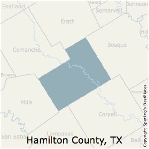 hamilton county texas map best places to live in hamilton county texas