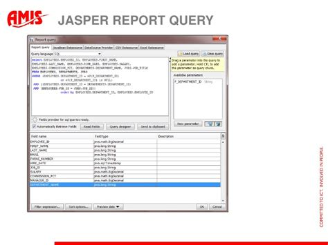 Jasper Report Template Design An Adf Special Report
