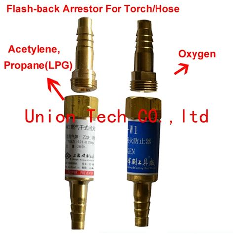 Flashback Arrestor For Torch Oxygen Acetylene Limited oxy fuel welding cutting rubber hose or torch safety valve flashback arrestor for oxygen
