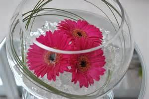Bubble Vase Centerpiece Travel Centrepiece On Pinterest Fishbowl Gerbera And