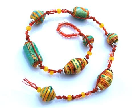 How To Make A Paper Bead Bracelet - handmade paper bead bracelet make bracelets