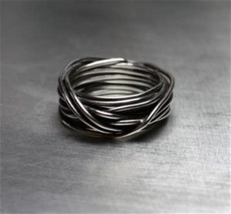 wire wrapped ring  men