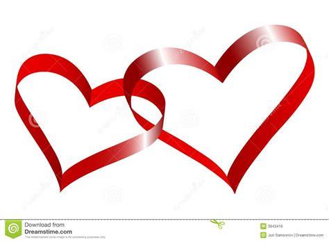 imagenes de dos corazones juntos dos corazones conectados imagen de archivo libre de