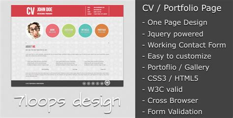 curriculum vitae web page design 20 free and premium resume cv html website templates and