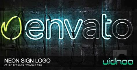 Neon Sign Logo By Vidnoadesign Videohive Neon Sign Template