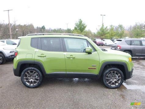 new jeep renegade green 2016 jungle green jeep renegade 75th anniversary 4x4