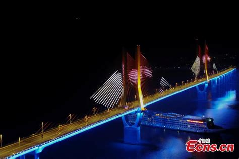 3d light show stunning 3d light show on chongqing bridge 1 5