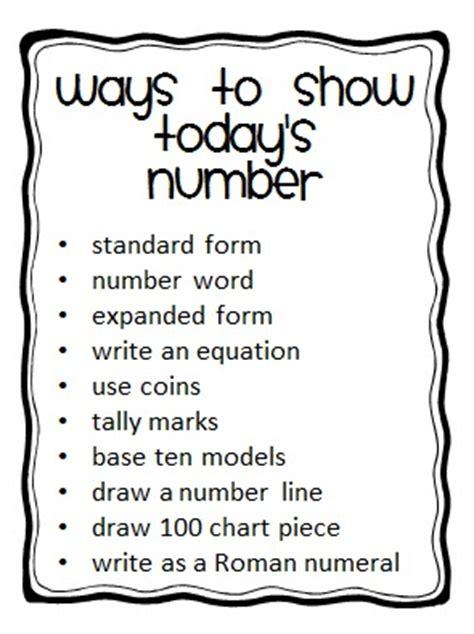 scow ways i love 2 teach today s number freebie