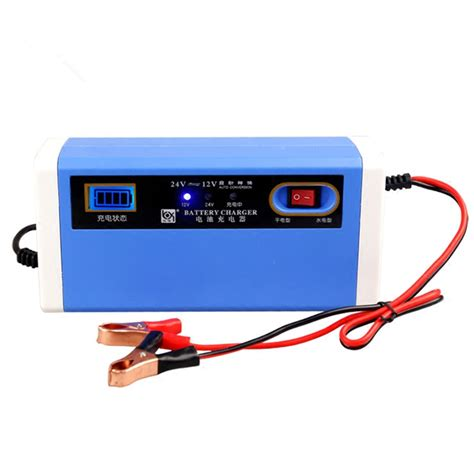 aliexpress electronics new 12 24v 10a digital lcd car battery charger motorcycle