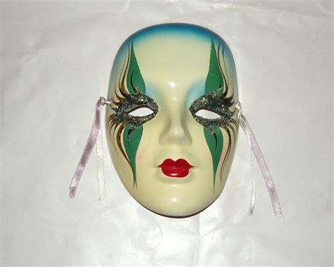 Handmade Mask - handmade madigras ceramic wall mask