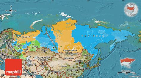 russia map satellite political map of russia satellite outside