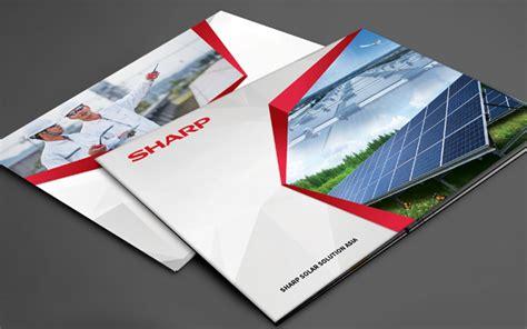 multimedia design company profile sharp solar solution asia company profile design