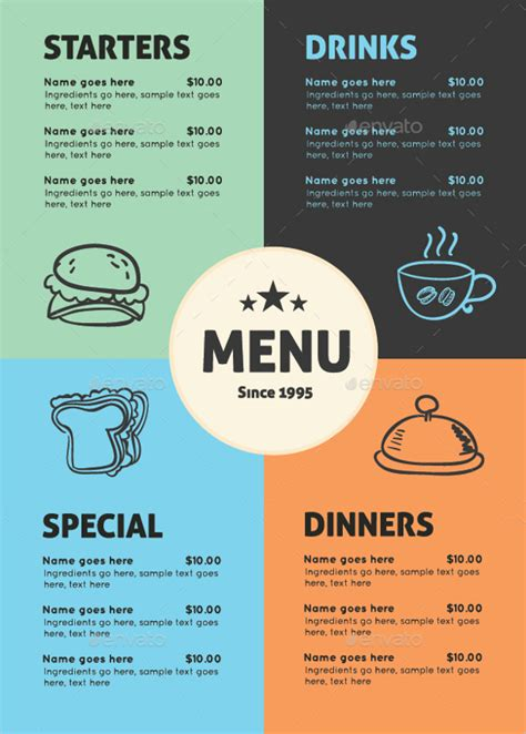 free catering menu templates 30 catering menu templates free design sle ideas