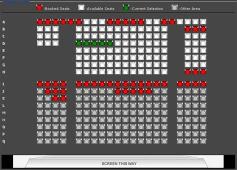 Floor Plan Database Screen Layout Designing In A Movie Theater Using Gridview