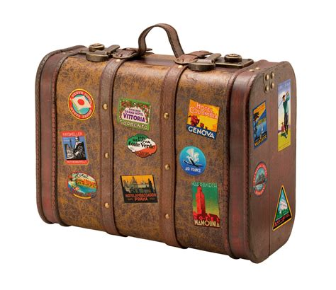 old suitcase with travel stickers2 jpeg bags leather