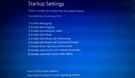 install windows 10 safe mode how to start or boot windows 10 in safe mode