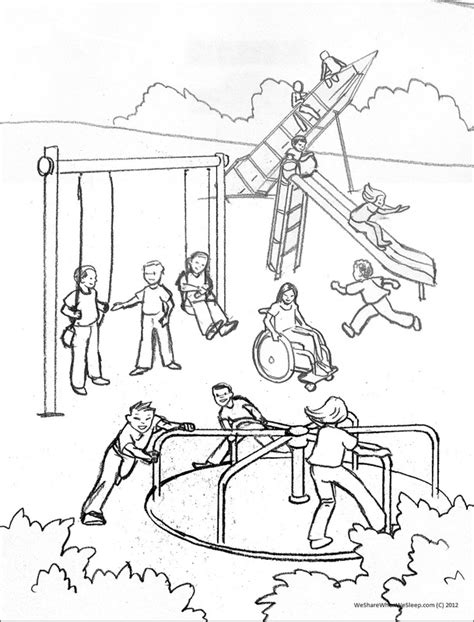 free coloring pages of playground park
