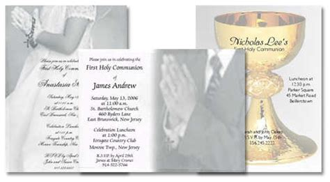 holy communion invitation templates holy communion invitation wording