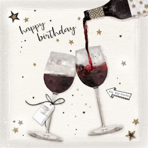 wine birthday gif cheerful birthday saying image with wine celebration