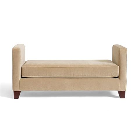 pottery barn upholstered bench 17 best images about benches on pinterest herons