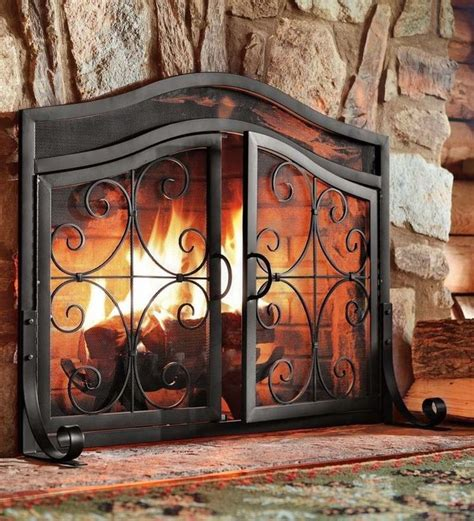 Fireplace Wrought Iron Screens by 1000 Ideas About Wrought Iron Fireplace Screen On