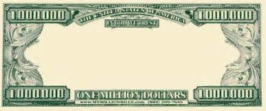 Million Dollar Bill Template by Best Photos Of Template Of Dollar Bill To Insert Picture