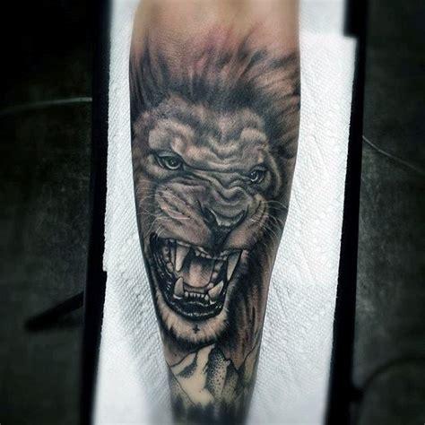 lion forearm tattoos 60 sleeve designs for masculine ideas