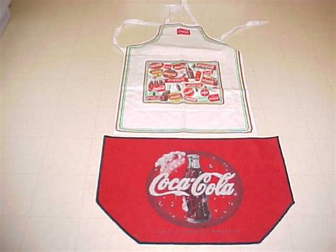 Coca Cola Kitchen Rug by Coke Coca Cola Lot Apron And Kitchen Rug Tapestry 25737064