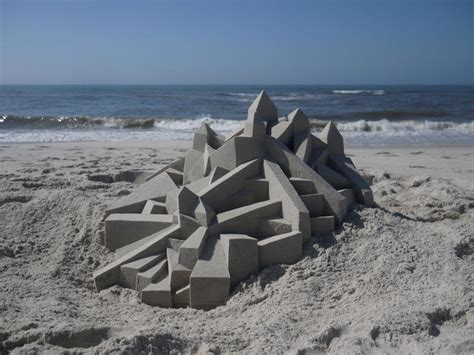 amazing geometric forms sculpted with sand my modern met this guy s elaborate sand castles make frank gehry look